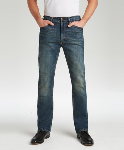 198-1 Marina Collection - Dark Wash Stretch Jean, Distressed - Traditional Fit