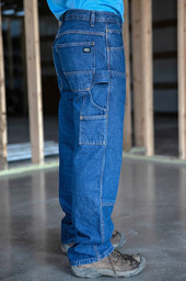 403.45 Contractor Grade Double Front Denim Dungaree - Relaxed fit