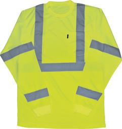 848.39 ANSI II Class 3 Hi-Vis Pocket T-Shirt, Long Sleeve, Waffle Knit