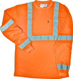 848.76 ANSI III Class 3 Hi-Vis Pocket T-Shirt, Long Sleeve, Waffle Knit