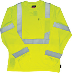 859.39 FR Hi-Vis Long Sleeve Shirt with Reflective Tape