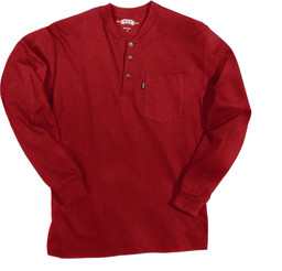 865.63 Heavyweight 3-Button Henley Pocket T-Shirt - Long Sleeve