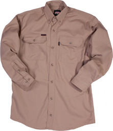 564.24 FR Button-Up Twill Shirt, Long Sleeve