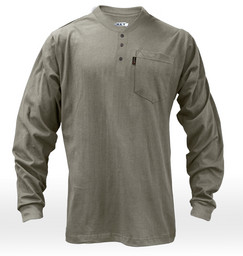 855.04 FR Long Sleeve 3-Button Henley