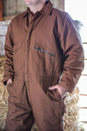 975.29 Insulated Duck Coverall, Hip Zip