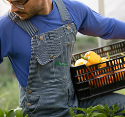 273.47 Traditional Hickory Stripe Bib Overall - Zipper Fly
