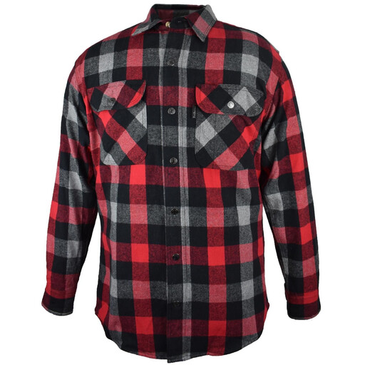 5901.1A Metal Snap Front Flannel Shirt