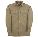 247TAN Premium Long Sleeve Twill Work Shirt with Snap Front Closure
