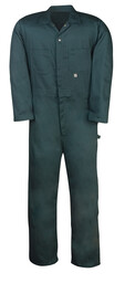414GRN Welder's All Cotton Coverall, Zip-Front Closure