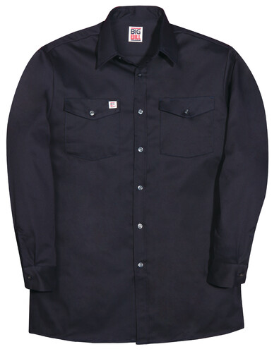 100NAY 100% Cotton Long-Sleeve Industrial Work Shirt