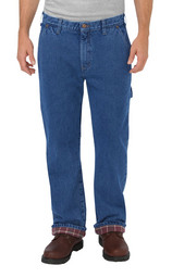 DU227SNB Relaxed Fit Straight Leg Flannel-Lined Jean