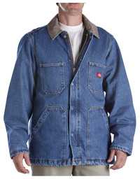 77-293SNB Denim Zip Front Chore Coat