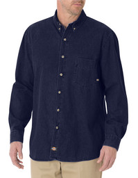 WL300RNB Relaxed Fit Long Sleeve Denim Work Shirt