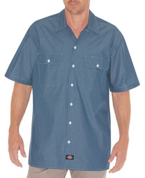 WS509BU Relaxed Fit Short Sleeve Chambray Shirt