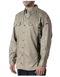 56144 FR Oilfield Camo Work Shirt
