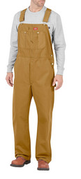 DB100RBD Brown Duck Bib Overall
