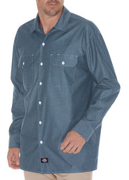 WL509BU Relaxed Fit Long Sleeve Chambray Shirt