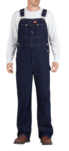 DB100RNB Indigo Blue Denim Bib Overall - Rinsed