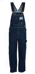 B910SWD Unlined Washed Blue Denim Bib Overall