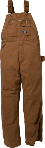 210.28 Premium Unlined Duck Bib Overall - Knee Zip
