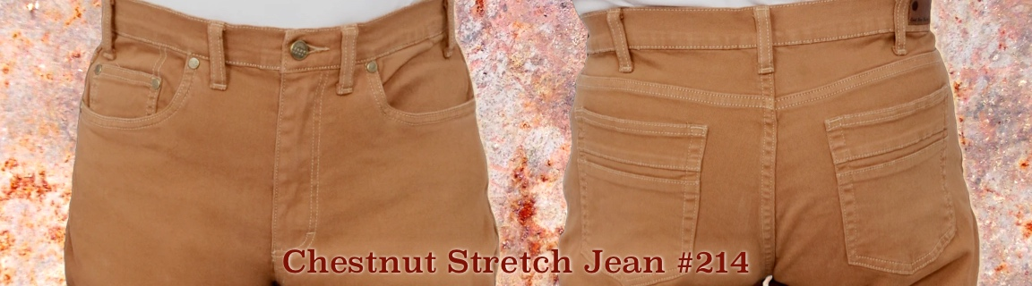 Great Fall Color - Chestnut Stretch Jeans!